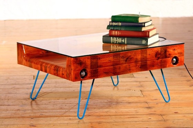 Hey Bulldog Design upcycled bolt and hairpin coffee table