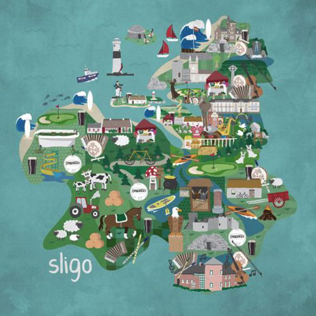 "'Sligo Map"" by Noelle Healy."