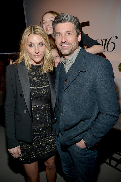 Jillian Fink and Patrick Dempsey attend the inaugural Image Maker Awards hosted by Marie Claire on January 12, 2016 in Los Angeles, California.