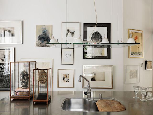 Kitchen as art gallery.