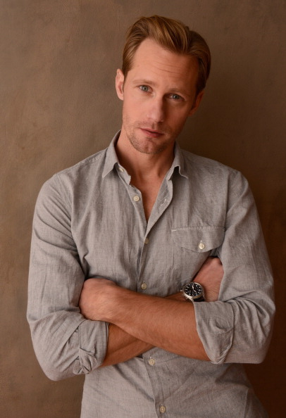 PARK CITY, UT - JANUARY 20:  Actor Alexander Skarsgard poses for a portrait during the 2013 Sundance Film Festival at the Getty Images Portrait Studio at Village at the Lift on January 20, 2013 in Park City, Utah.  (Photo by Larry Busacca/Getty Images)