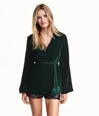 Green velvet HM blazer 49.99euro (1)