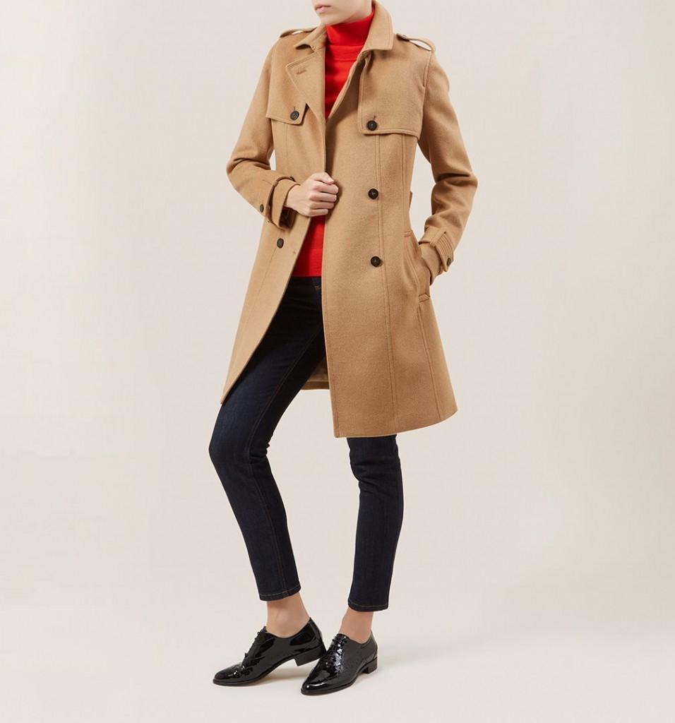 Hobbs camel coat 325