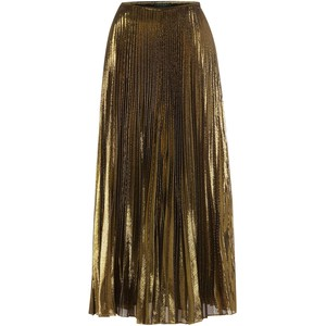 Lauren Ralph Lauren Gold Pleated Skirt - €299