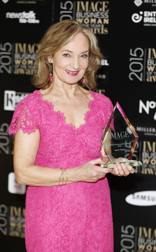 Lifetime achievement winner Mary Finan at the Image Businesswomen of the Year Awards 2015