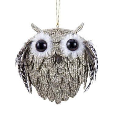"""Adler 4"""" Glitter Owl €5.95"""