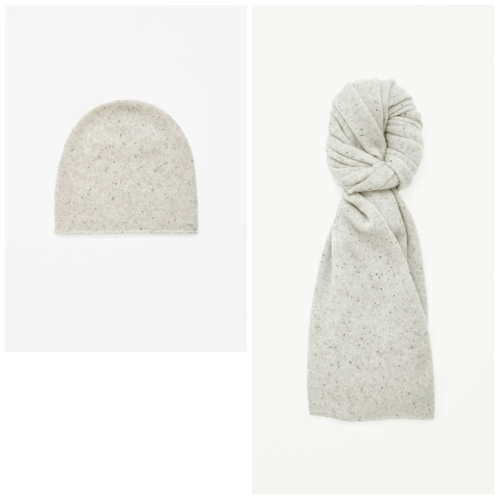 Cashmere Hat & Scarf, €39 & €69, COS