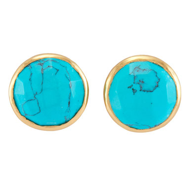 Melinda Maria Hunter Studs Gold Turquoise (Zoe) €90