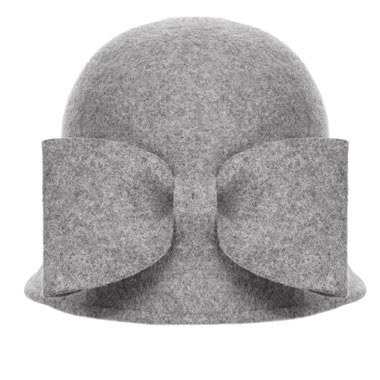 Peter O'Brien Bow Hat Grey €140