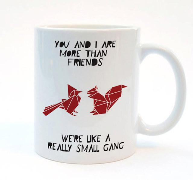 Stencilize squirrel buddies mug