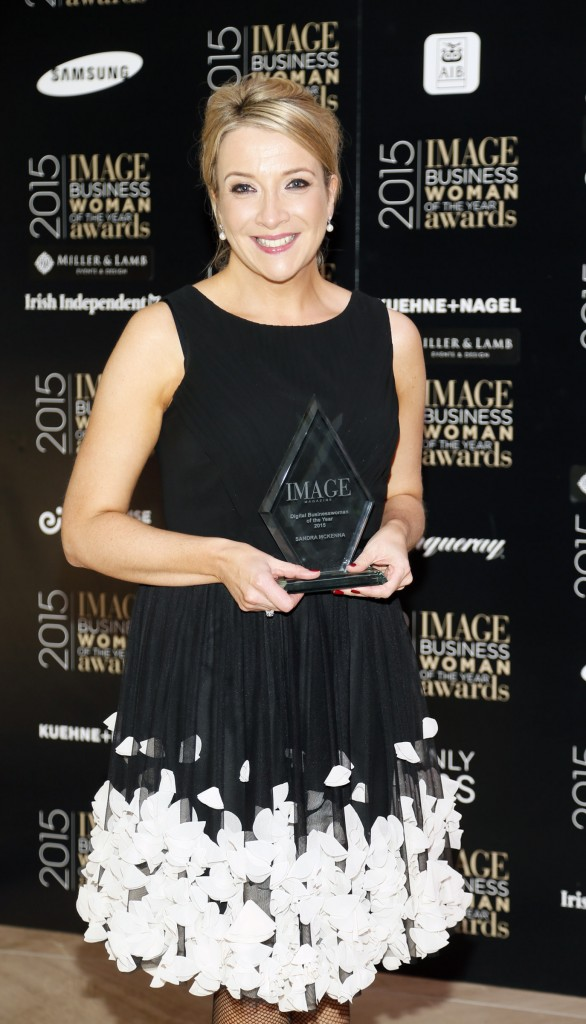 winner of digital businesswoman Sandra McKenna at the Image Businesswomen of the Year Awards 2015