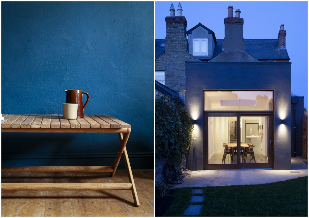 A covetable table by Irish design superstars Superfolk; a delectable Dublin extension by Anima Architects (image: Alice Clancy).