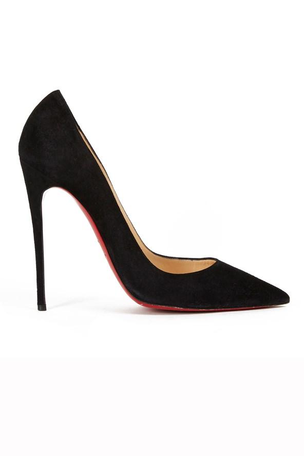 Emma Watson's Christian Louboutin So Kate shoes.