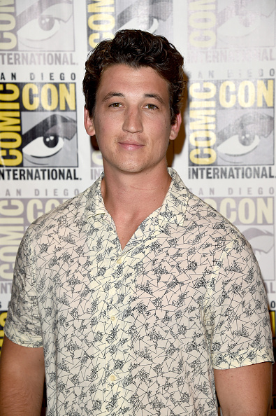 SAN DIEGO, CA - JULY 11: Actor Miles Teller attends the 20th Century Fox press room during Comic-Con International 2015 at the Hilton Bayfront on July 11, 2015 in San Diego, California. (Photo by Jason Merritt/Getty Images)