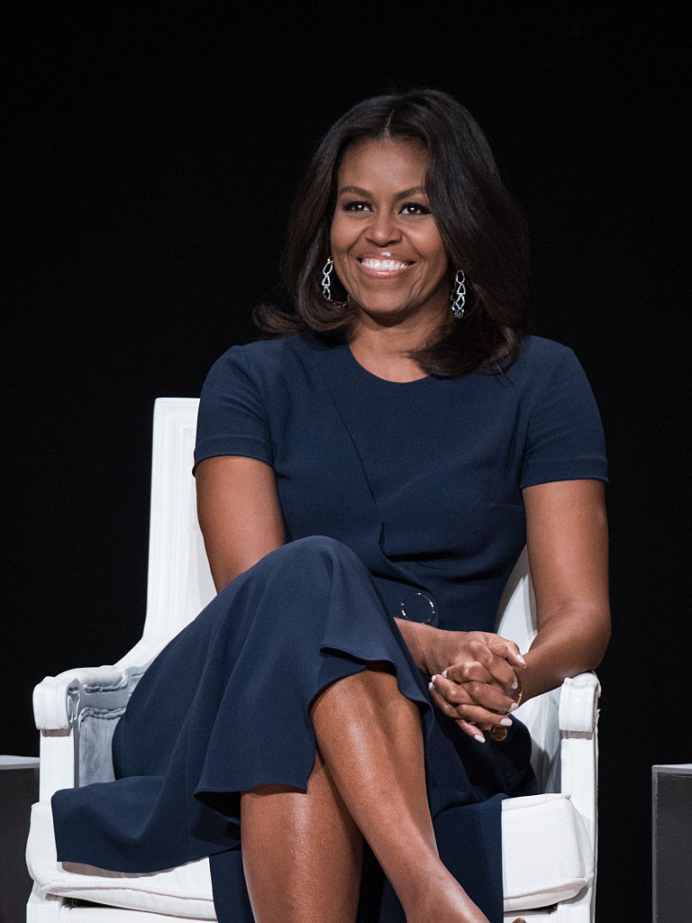 """First Lady of the United States Michelle Obama joins the  """"Let Girls Learn"""" Global Conversation at The Apollo Theater in New York City."""