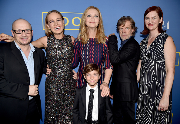 The cast of'Room; with director Lenny Abrahamson and author Emma Donoghue.
