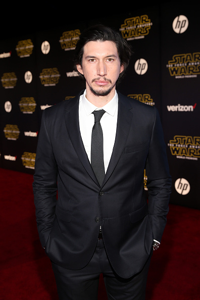 adam driver attends the World Premiere of ?Star Wars: The Force Awakens? at the Dolby, El Capitan, and TCL Theatres on December 14, 2015 in Hollywood, California.