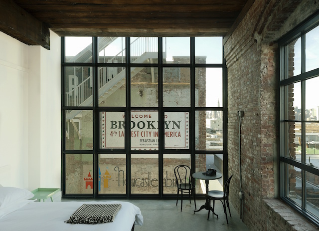 View from a guestroom in Brooklyn's Wythe Hotel (image: Matthew Williams).