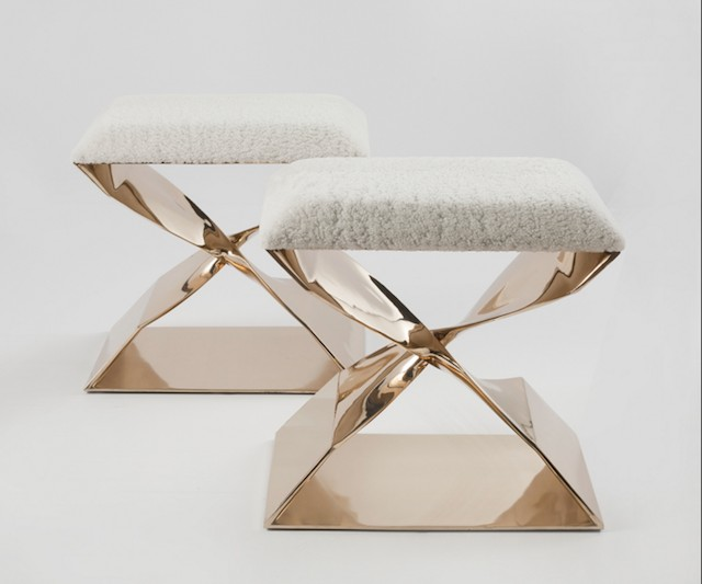 Carol Egan's stools at Maison Gerard