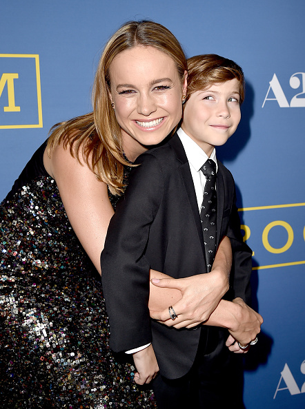 """WEST HOLLYWOOD, CA - OCTOBER 13: Actress Brie Larson (L) and actor Jacob Tremblay arrive at the premiere of A24's """"Room"""" at the Pacific Design Center on October 13, 2015 in West Hollywood, California. (Photo by Kevin Winter/Getty Images)"""