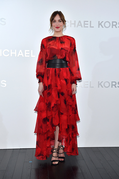 TOKYO, JAPAN - NOVEMBER 20: Dakota Johnson attends the opening event for the Michael Kors Ginza Flagship Store on November 20, 2015 in Tokyo, Japan. (Photo by Koki Nagahama/Getty Images for Michael Kors)
