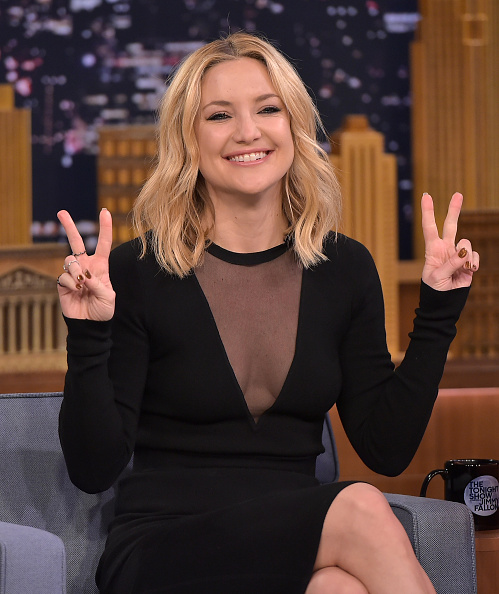 """NEW YORK, NY - JANUARY 25: Kate Hudson Visits """"The Tonight Show Starring Jimmy Fallon"""" on January 25, 2016 in New York City. (Photo by Theo Wargo/Getty Images for NBC)"""