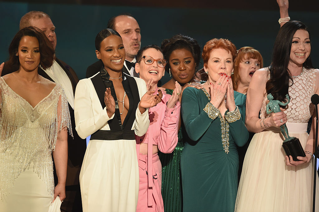 onstage during The 22nd Annual Screen Actors Guild Awards at The Shrine Auditorium on January 30, 2016 in Los Angeles, California. 25650_021