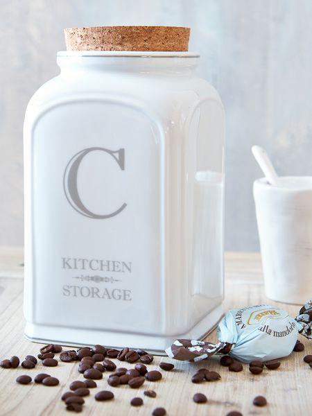 White Ceramic Coffee Jar €24.95 - Nordic House