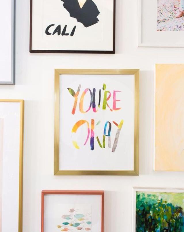Interiors Pinspiration: Rainbow-Bright Gallery Walls