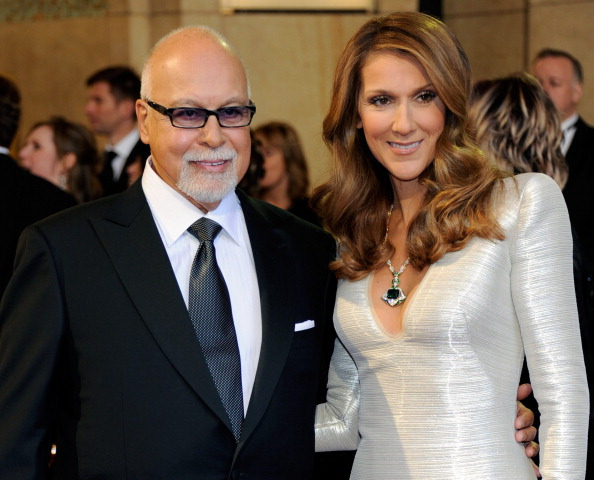 HOLLYWOOD, CA - FEBRUARY 27: Rene Angelil (L) and his wife, singer Celine Dion, arrive at the 83rd Annual Academy Awards at the Kodak Theatre February 27, 2011 in Hollywood, California. (Photo by Ethan Miller/Getty Images)