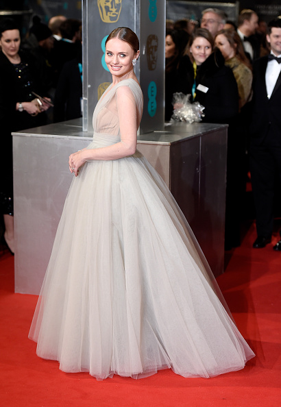laura haddock attends the EE British Academy Film Awards at The Royal Opera House on February 8, 2015 in London, England.