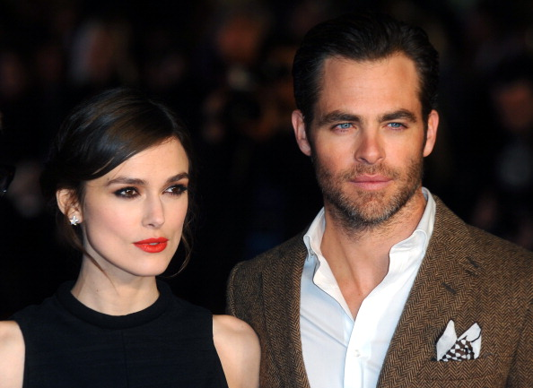 """Keira Knightley and Chris Pine attend the UK Premiere of """"Jack Ryan: Shadow Recruit"""""""