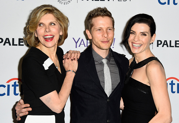 """HOLLYWOOD, CA - MARCH 07: Actors Christine Baranski, Matt Czuchry, Julianna Margullies arrive at The Paley Center For Media's 32nd Annual PALEYFEST LA - """"The Good Wife"""" at Dolby Theatre on March 7, 2015 in Hollywood, California. (Photo by Frazer Harrison/Getty Images)"""