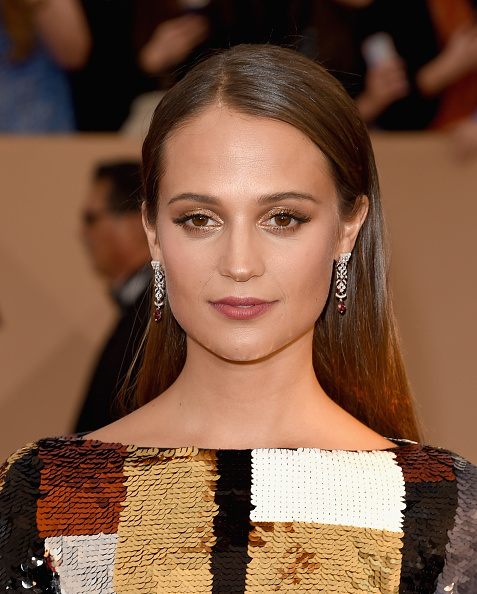 LOS ANGELES, CA - JANUARY 30: Actress Alicia Vikander attends The 22nd Annual Screen Actors Guild Awards at The Shrine Auditorium on January 30, 2016 in Los Angeles, California. 25650_015 (Photo by Jason Merritt/Getty Images for Turner)