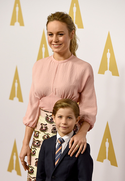 BEVERLY HILLS, CA - FEBRUARY 08: Actors Brie Larson (L) and Jacob Tremblay attend the 88th Annual Academy Awards nominee luncheon on February 8, 2016 in Beverly Hills, California. (Photo by Kevin Winter/Getty Images)