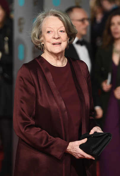 Dame Maggie Smith attends the EE British Academy Film Awards at the Royal Opera House on February 14, 2016 in London, England.