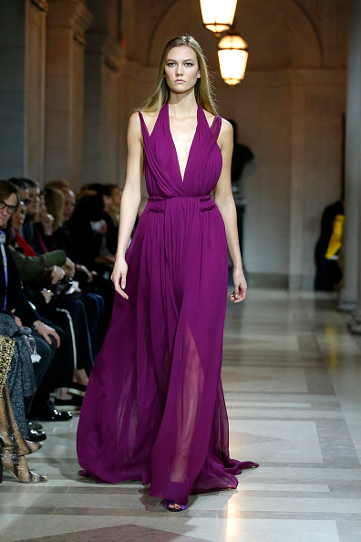 A model walks the runway wearing Carolina Herrera Fall 2016 during New York Fashion Week on February 15, 2016 in New York City.