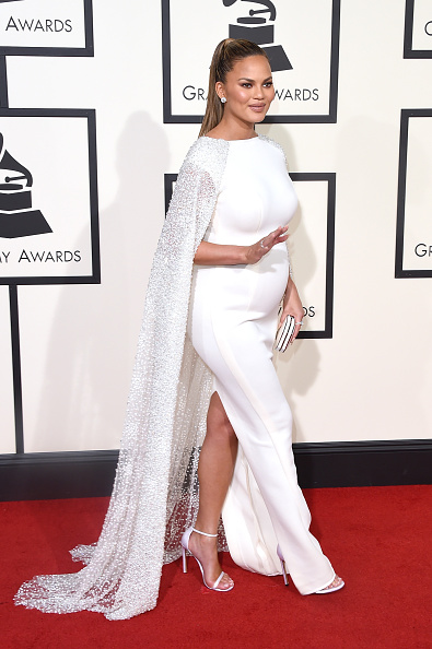 Chrissy Teigen attends The 58th GRAMMY Awards at Staples Center on February 15, 2016 in Los Angeles, California.