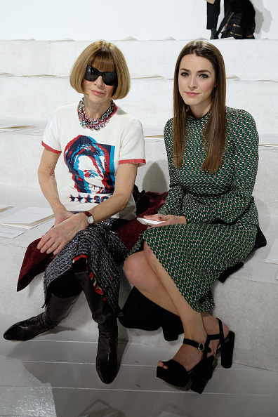 NEW YORK, NY - FEBRUARY 18: Editor-in-chief of American Vogue, Anna Wintour and Bee Shaffer attend the Marc Jacobs Fall 2016 fashion show during New York Fashion Week at Park Avenue Armory on February 18, 2016 in New York City. (Photo by Dimitrios Kambouris/Getty Images for Marc Jacobs)