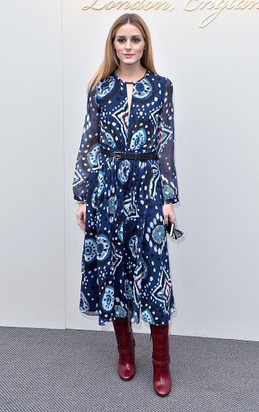 LONDON, ENGLAND - FEBRUARY 22: Olivia Palermo attends the Burberry show during London Fashion Week Autumn/Winter 2016/17 at Kensington Gardens on February 22, 2016 in London, England. (Photo by Anthony Harvey/Getty Images)