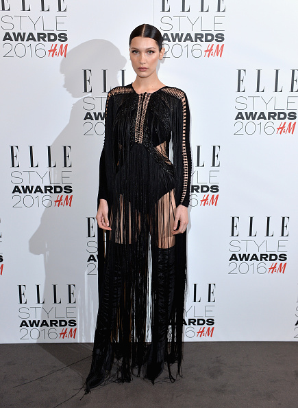 LONDON, ENGLAND - FEBRUARY 23: Bella Hadid attends The Elle Style Awards 2016 on February 23, 2016 in London, England. (Photo by Anthony Harvey/Getty Images)