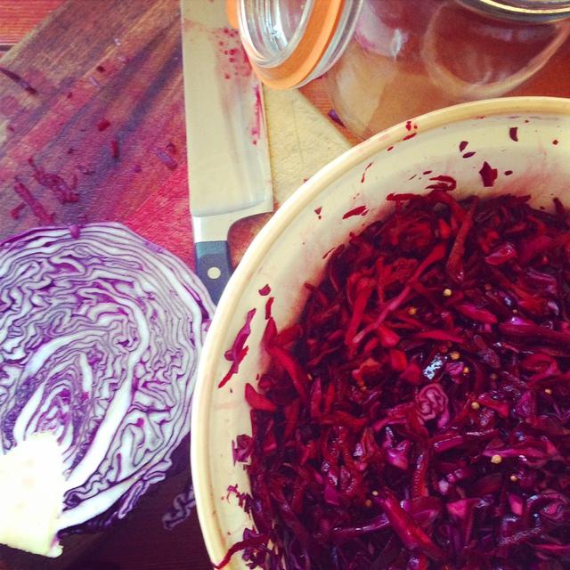 Lilly Higgins' Beetroot and Coriander Sauerkraut Recipe
