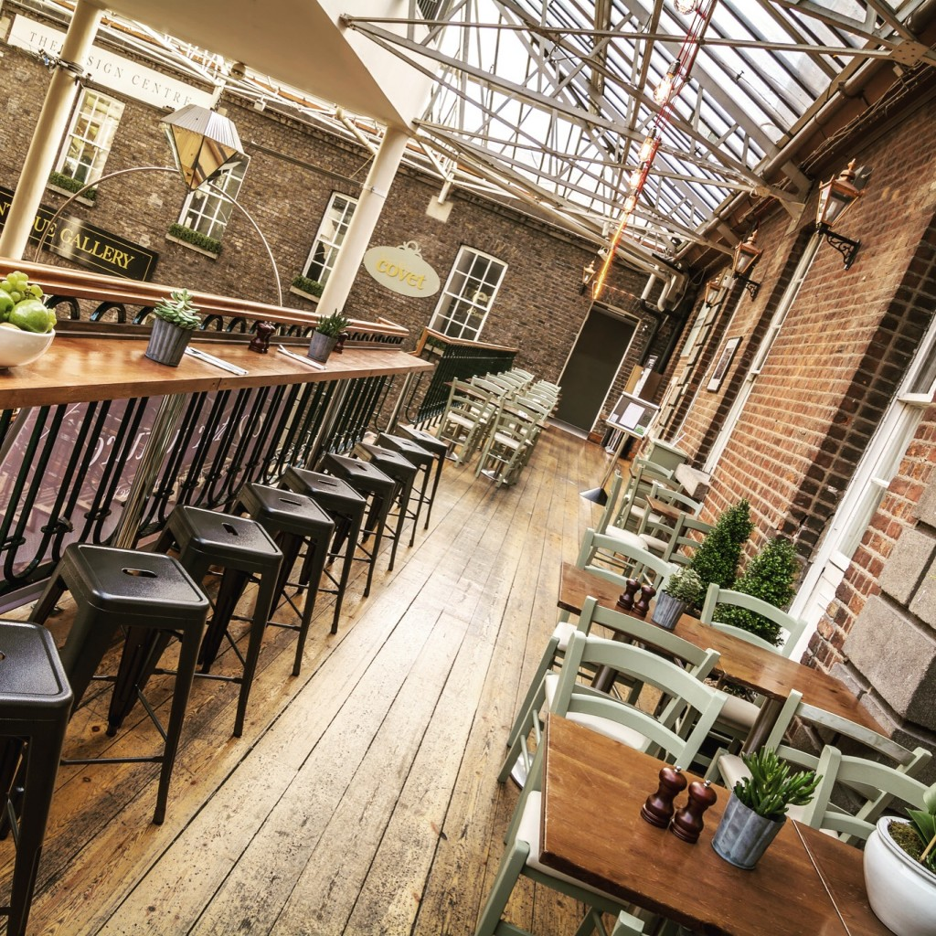 Powerscourt Townhouse Centre - Counter Culture Restaurant on 2nd floor balcony 1