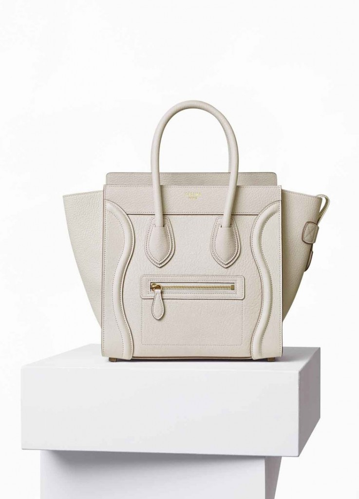 C?LINE Micro Luggage Handbag In White, €2,650