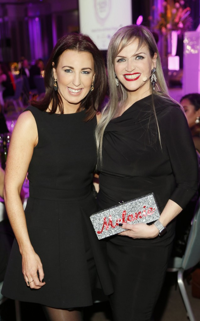 Clodagh Edwards and Melanie Morris at the 2016 Image Business of Beauty Awards