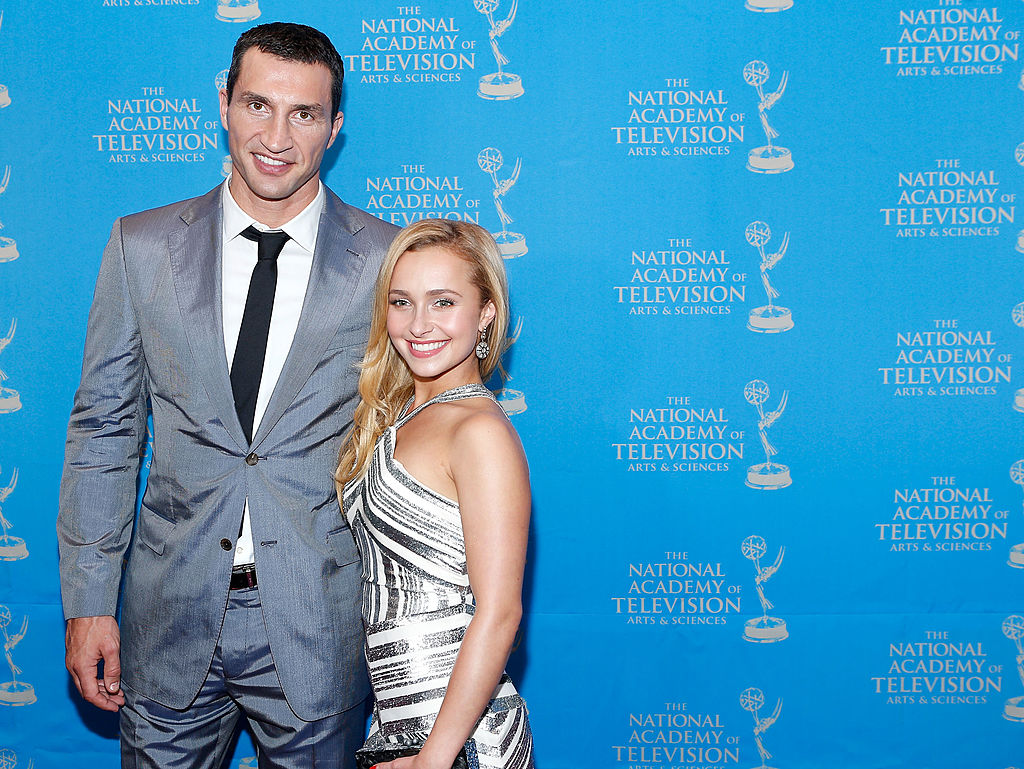 Boxer Wladimir Klitschko and actress/model Hayden Panettiere attend the 34th Annual Sports Emmy Awards Reception