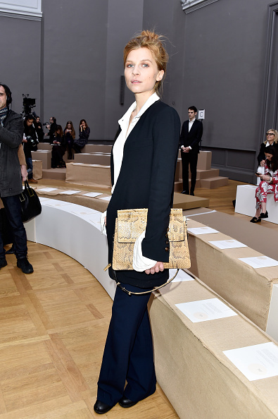 PARIS, FRANCE - MARCH 03: Clemence Poesy attends the Chloe show as part of the Paris Fashion Week Womenswear Fall/Winter 2016/2017 on March 3, 2016 in Paris, France. (Photo by Pascal Le Segretain/Getty Images)