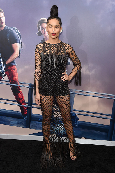 """NEW YORK, NEW YORK - MARCH 14: Actress Zoe Kravitz attends the New York premiere of """"Allegiant"""" at the AMC Lincoln Square Theater on March 14, 2016 in New York City. (Photo by Jamie McCarthy/Getty Images)"""