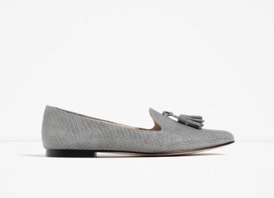 Zara embossed slipper €19.99