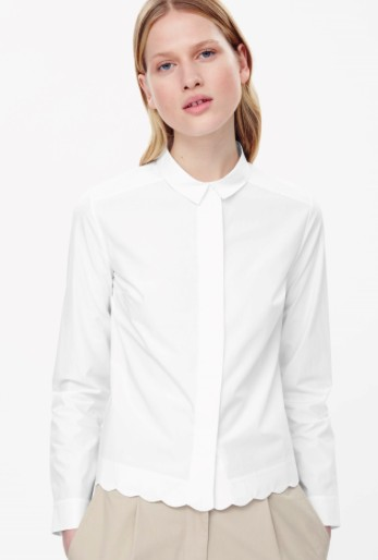 Cos shirt with scalloped hem, €55